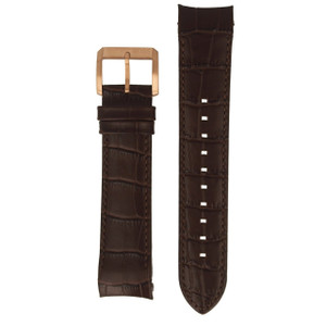 Hugo Boss Replacement Watch Strap Brown Genuine Leather 22mm For HB.284.1.96.2913 With Free Connecting Pins