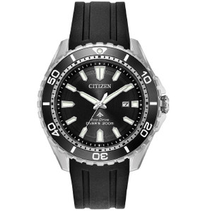 Citizen Eco-Drive Promaster Black Rubber Strap Diver's Watch BN0190-07E