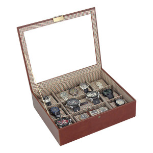 Stackers Watch Box For 15 Watches in Tan 73247