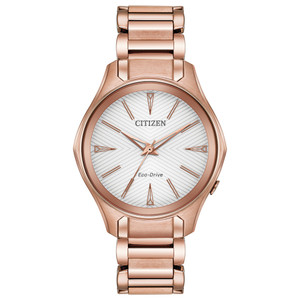 Citizen Eco-Drive Ladies Rose-Gold Watch EM0593-56A