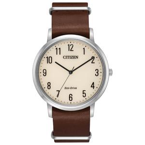 Citizen Eco-Drive Men's Chandler Leather Nato Strap Watch BJ6500-21A