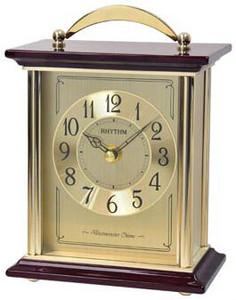 Rhythm Westminster Chime Strike Piano Finish Wooden Mantel Clock CRH253NR18