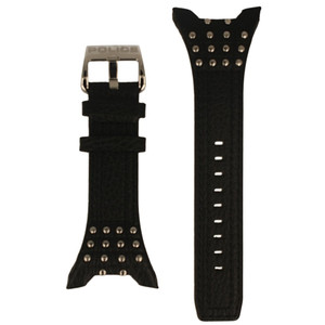 Police Genuine Replacement Watch Strap Studded Leather For 13634JS/02