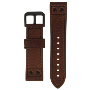 Police Genuine Replacement Watch Strap Brown Leather For 14536JSB/12A