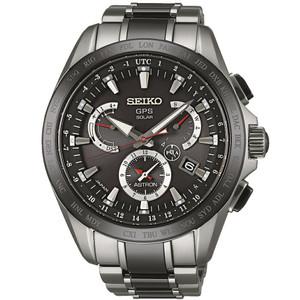 Seiko Astron GPS Titanium Solar Powered Men's Dual Time Watch SSE041J1