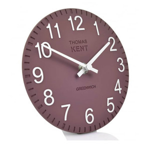Thomas Kent Cotswold Plum Colour Mantel Clock CK6055 (15 CM)