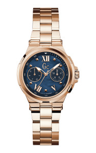 Gc Structura Rose Gold Day And Date Watch Y29003L7
