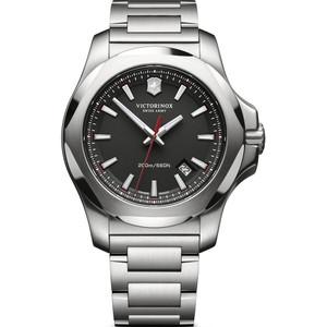 Victorinox Swiss Army I.N.O.X. Sapphire Date Black Dial Bracelet Watch 241723.1
