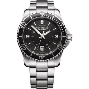 Victorinox Swiss Army Maverick Black Dial Silver Bracelet Watch 241697