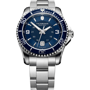 Victorinox Swiss Army Maverick Blue Dial Silver Bracelet Watch 241602