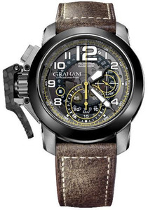 Graham Men's ChronoFighter Target Oversize Brown Leather Watch 2CCAC.B16A.L43S