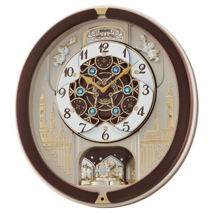 Seiko Marionette Brown Melody Wall Alarm Clock QXM291B
