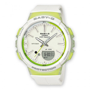 Baby-G White Step Tracker Digital Analogue Watch BGS-100-7A2ER