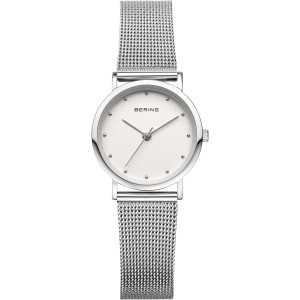 Bering Classic Ladies White Dial Silver Strap Watch 13426-000