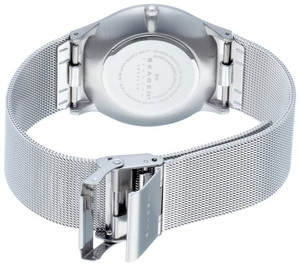 Skagen Replacement Silver Mesh Watch Strap 21mm For 233XLSS With Free Connecting Pins