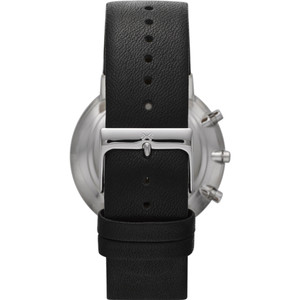 Skagen Watch Replacement Strap 22mm For SKW6105 Black Leather With Free Screws