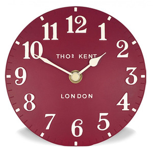 "Thomas Kent Arabic Large 20"" Wall Clock Red CK20039"