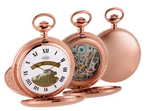 Woodford Limited Edition Flying Scotsman Mechanical Skeleton Rose Gold Pocket Watch HT105