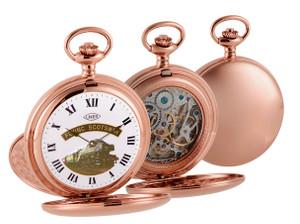Woodford Limited Edition Flying Scotsman Mechanical Skeleton Rose Gold Pocket Watch HT105