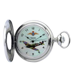 Woodford Spitfire Mark 5 Mechanical Chrome Pocket Watch HT101
