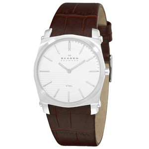 Skagen Watch Replacement Strap For 859LSLC Brown Leather