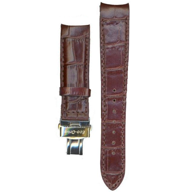 dcb2b7092a9db Citizen Genuine Replacement 20mm Brown Leather Strap For BL8006-07A