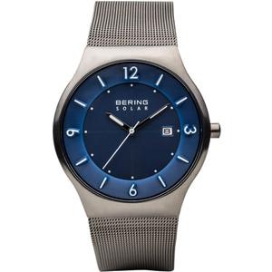 Bering Men's Solar Blue Dial Milanese Strap Watch 14440-007