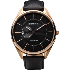Bering Men's Automatic Black Dial Leather Strap Watch 16243-462