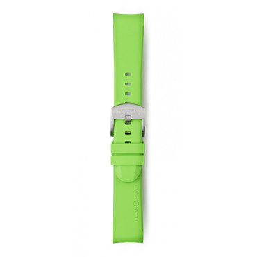 Elliot Brown Replacement Acid Green Rubber Strap For 22mm Watches STR-R11