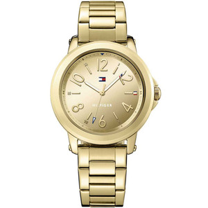 Tommy Hilfiger Ladies Ellie Gold Dial Stainless-Steel Bracelet Watch 1781751