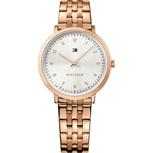 Tommy Hilfiger Ladies Ultra Slim Silver Dial Watch 1781760