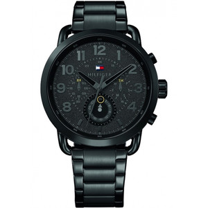 Tommy Hilfiger Men's Briggs Black Dial Stainless-Steel Bracelet Watch 1791423