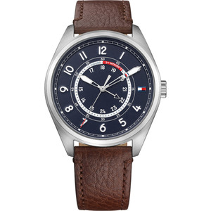 Tommy Hilfiger Men's Dylan Navy Dial Leather Strap Watch 1791371