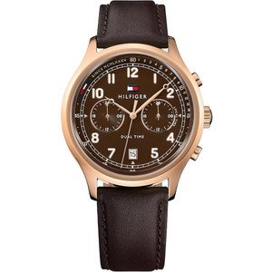 Tommy Hilfiger Men's Emerson Brown Dial Dual Time Watch 1791387
