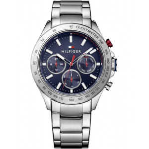 Tommy Hilfiger Men's Hudson Blue Dial Stainless-Steel Bracelet Watch 1791228