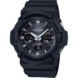 G-Shock Radio-Controlled Solar Powered Black Resin Watch GAW-100B-1AER