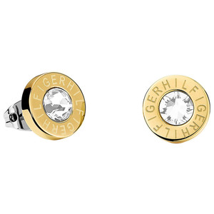 Tommy Hilfiger Fine Core Swarovski Crystal Gold Plated Stud Earrings 2700753