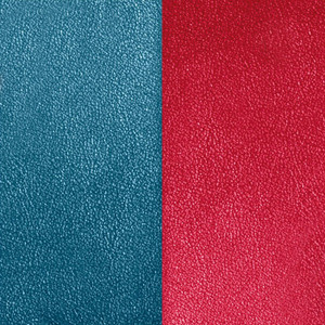 Les Georgettes Leather Insert In Petroleum Blue and Raspberry
