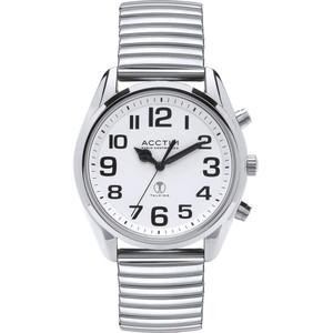 Acctim Talking Peregrine Men's Radio Controlled White Dial Bracelet Watch 60557
