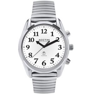 Acctim Talking Robin Women's Radio Controlled White Dial Bracelet Watch 60547
