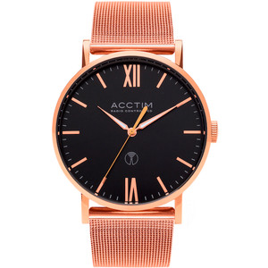Acctim Sterling Men's Radio Controlled Black Dial Milanese Mesh Bracelet Watch 60410
