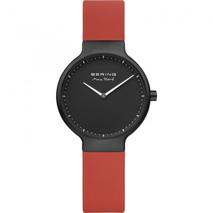 Bering Ladies Max Rene Red Rubber Watch With Interchangeable Strap 15531-523