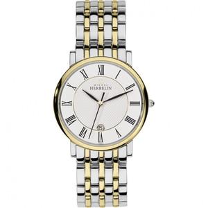 Michel Herbelin Men's Parisian Two Tone Stainless-Steel Bracelet Watch 12543/BT01