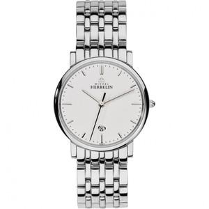 Michel Herbelin Men's Classic White Dial Stainless-Steel Bracelet Watch 12543/B11