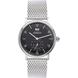 Michel Herbelin Men's Montmartre Black Dial Stainless-Steel Mesh Bracelet Watch 18247/14B