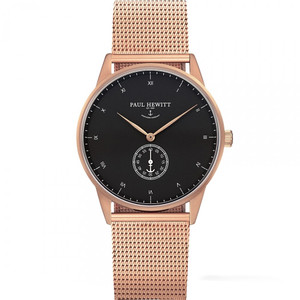 Paul Hewitt Unisex Signature Line IP Rose Gold Milanese Mesh Bracelet Watch PH-M1-R-B-4M