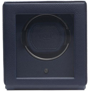 Wolf Cub Navy Pebble Finish Single Watch Winder With Glass Cover 461117