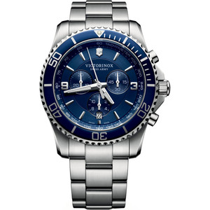 Victorinox Swiss Army Men's Maverick Chronograph Blue Dial Stainless-Steel Bracelet Watch 241689