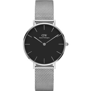 Daniel Wellington Women's Classic Petite Sterling Black Dial Mesh Bracelet Watch DW00100162