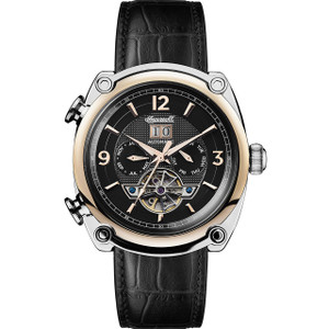 Ingersoll Men's The Michigan Automatic Black Dial Leather Strap Watch I01102
